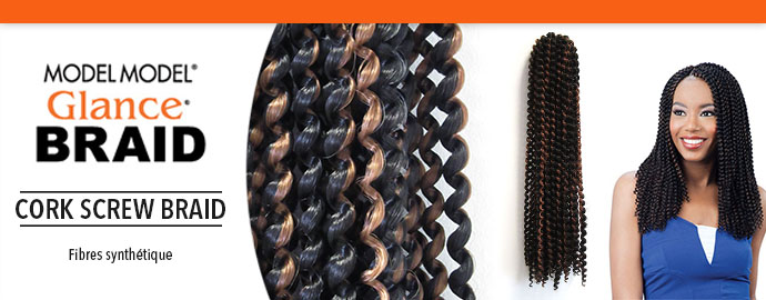GLANCE CORK SCREW BRAID