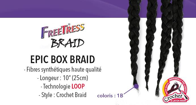 FREETRESS natte EPIC BOX BRAID