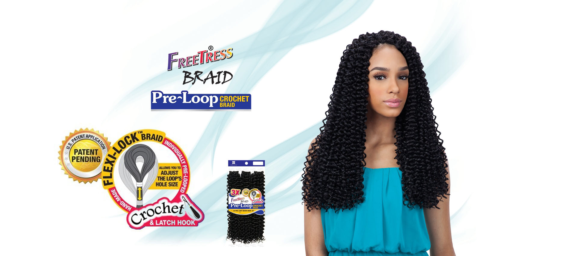 FREETRESS PRE-LOOP WATER WAVE CROCHET BRAID