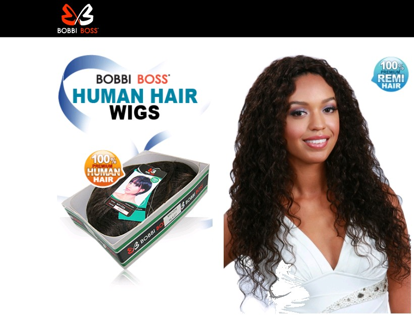 Perruque MH1220 MEGAN de Bobbi Boss conçue en cheveux 100 % humains