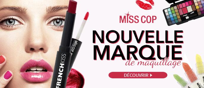 Nouvelle marque de maquillage MISS COP à découvrir >