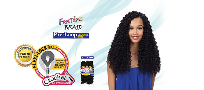 FREETRESS PRE-LOOP DEEP TWIST CROCHET BRAID
