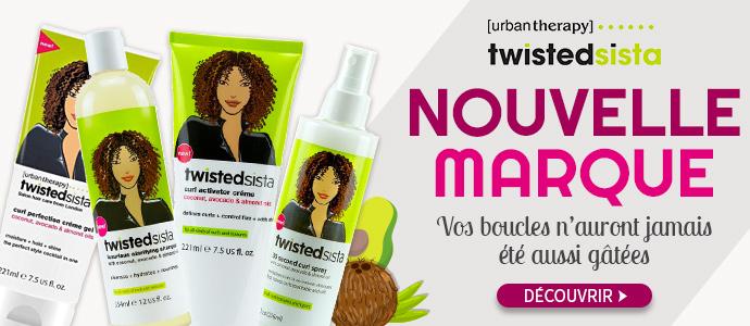 Nouvelle marque capillaire pour cheveux bouclés TWISTED SISTA