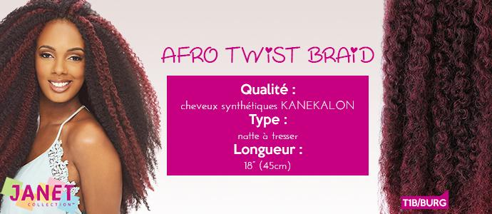 JANET (Noir), AFRO TWIST BRAID