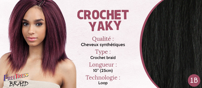 FREETRESS natte CROCHET YAKY