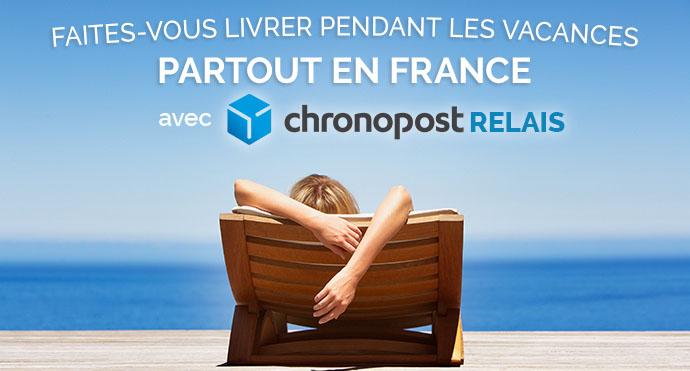 Durant vos vacances en France métropolitaine, Choisissez Chronopost Relais