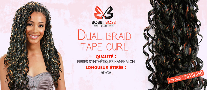 BOBBI BOSS, natte Dual Braid Tape Curl