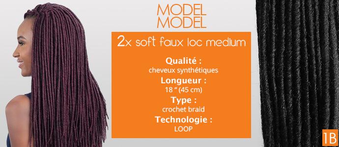 """MODEL MODEL, 2x soft faux loc 18"""""""