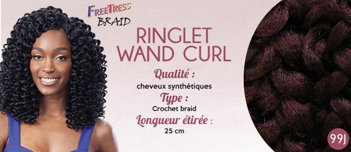 FREETRESS natte RINGLET WAND CURL