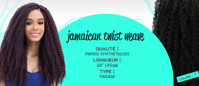 EQUAL, tissage jamaican tiwst 18""