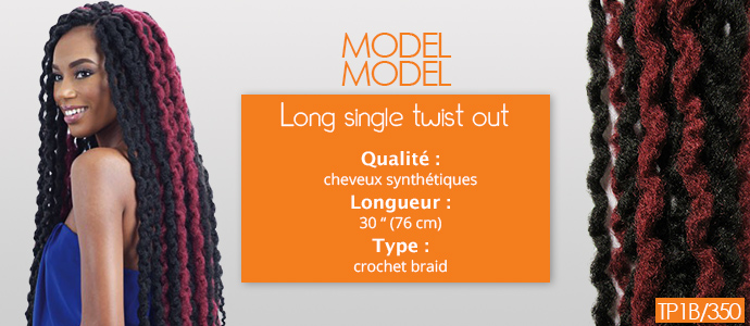MODEL MODEL, long single twist out