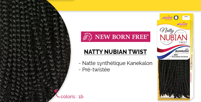 NEW BORN FREE, natty nubian twist