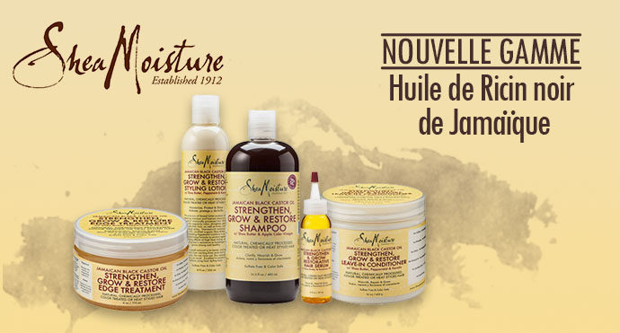 SHea Moisture gamme Jamaican Black Castor Oil