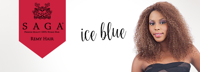 SAGA, perruque ICE BLUE