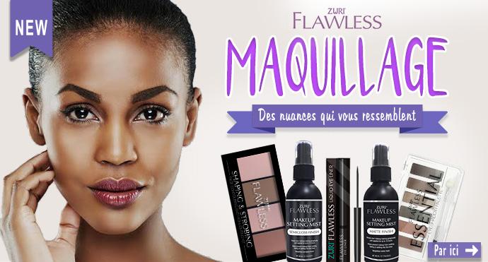 Nouvelle marque spéciale peaux noires et métissées ZURI Flawless