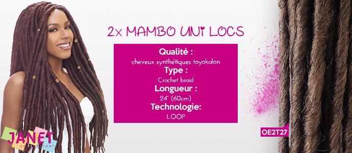 "JANET, 2x MAMBO UNI-LOCS 24"""