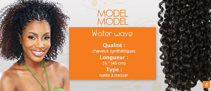 MODEL MODEL, natte à tresser water wave