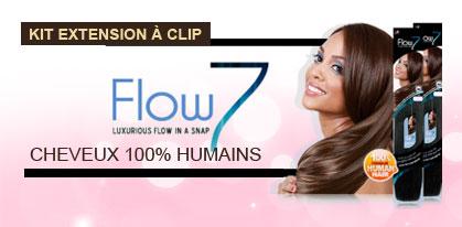Kit extension a clip en cheveux 100 pour 100 humains