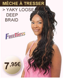 Freetress mèche à tresser YAKY LOOSE DEEP BRAID