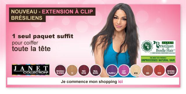 Nouveau: Extensions à clip Brésiliens de la marque Janet
