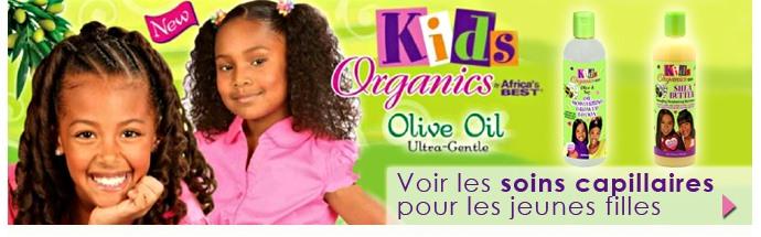 Soins capillaires pour jeunes filles