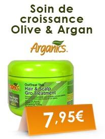 Soin de croissance Olive et Argan Arganics