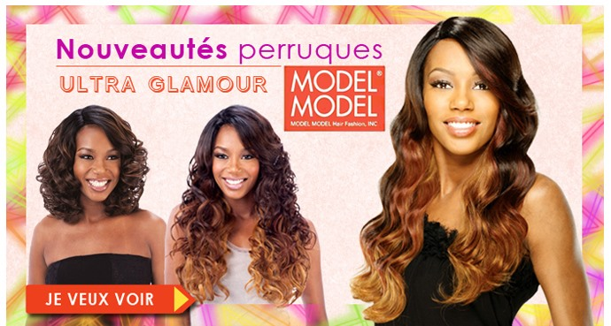 Perruques ultra glamour Model Model