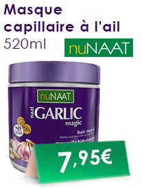 Masque capillaire a l ail nuNAAT