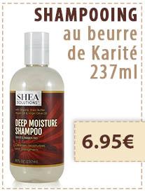 Shampooing Shea Solutions au beurre de karite
