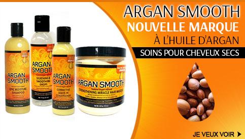 Nouvelle marque de soins Argan Smooth