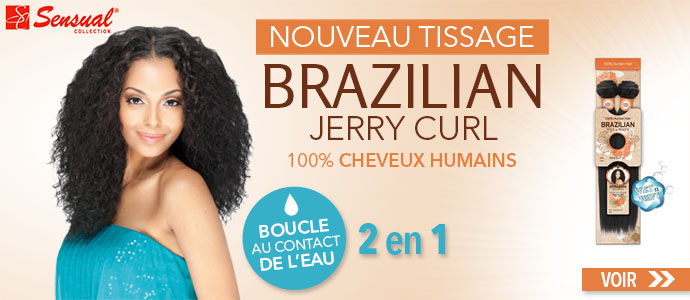 Nouveau tissage Brazilian Jerry Curl de SENSUAL