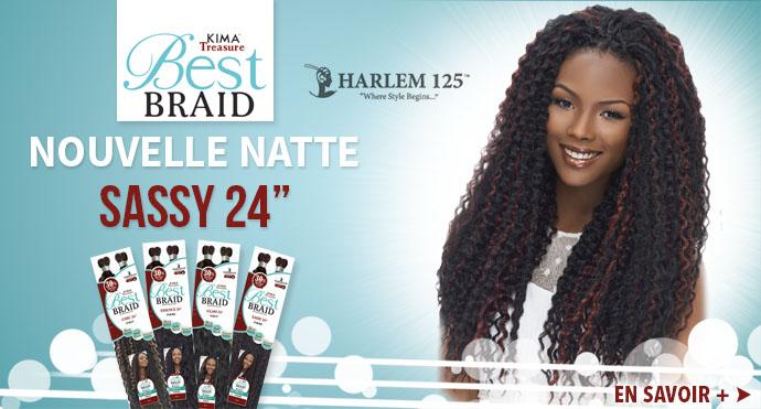 Nouvelle natte Sassy 24 pouces de HARLEM 125
