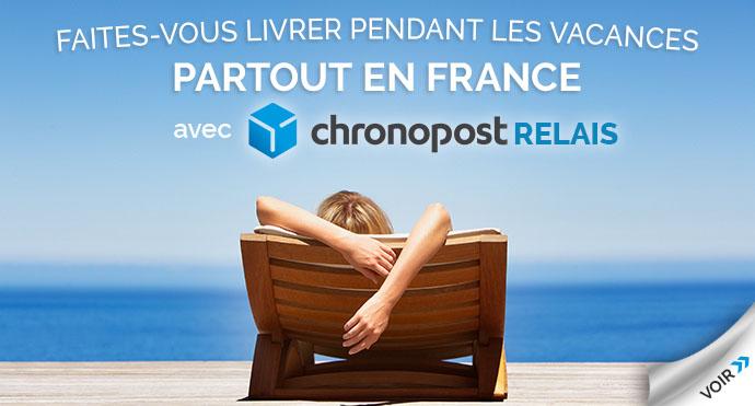 Livraison Chronopost 24h sur le lieu de vos vacances