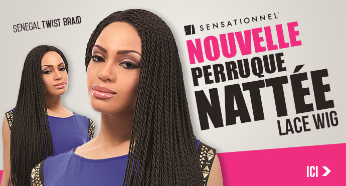 Nouvelle perruque nattée SENSATIONNEL