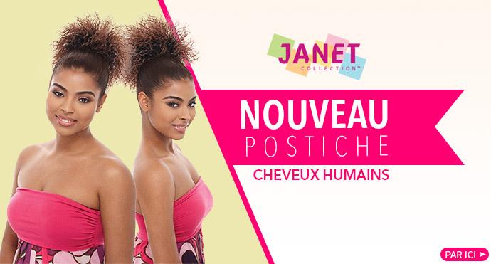 Postiche JANET en cheveux humains