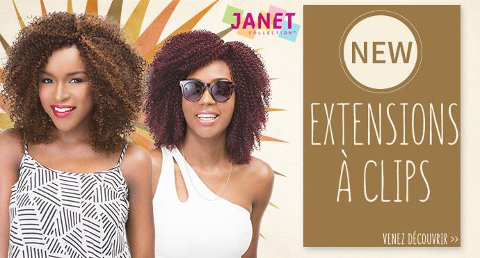 Nouveauté : extensions à clips JANET