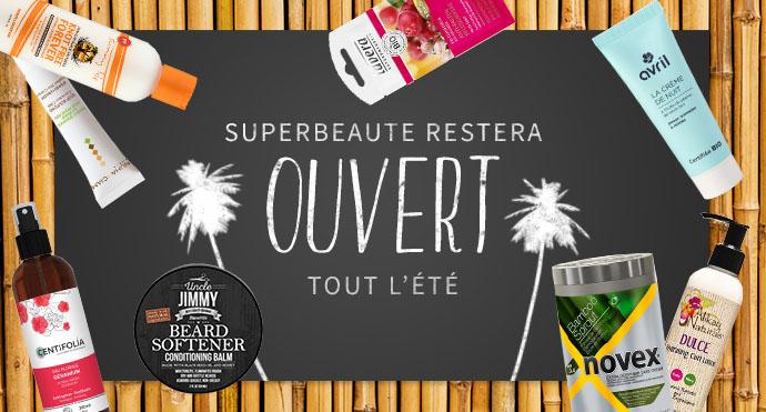 SUPERBEAUTE.fr est ouvert tout l été