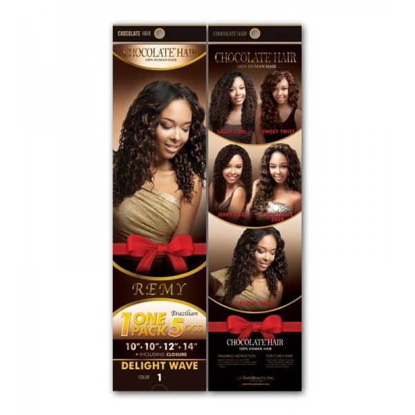 EVER CHOCOLATE tissage CHOCO DELIGHT WAVE 1 PACK 5PCS