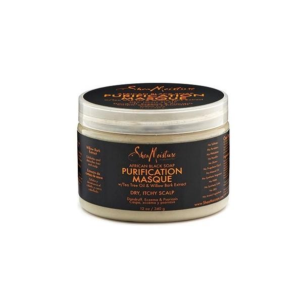 "SHEA MOISTURE Masque purifiant African Black Soap ""Purification"" 340g"