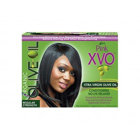 PINK Kit défrisant XVO huile d'Olive cheveux normaux