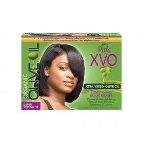 PINK Kit défrisant XVO huile d'Olive cheveux épais