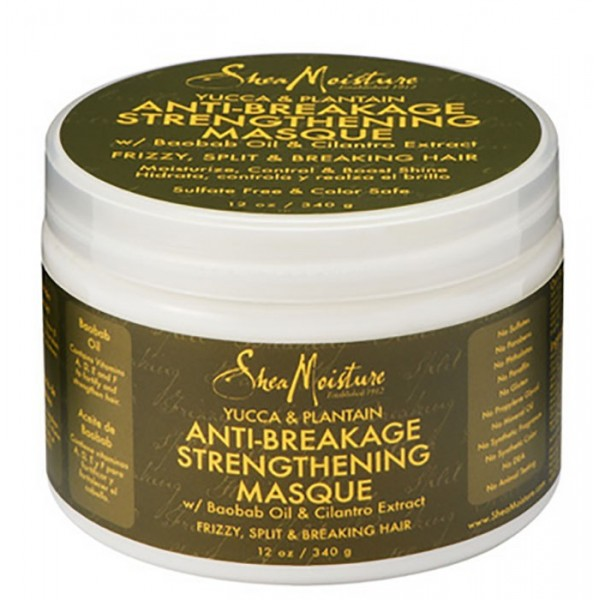 "SHEA MOISTURE Masque anti-casse YACCA PLANTAIN & BAOBAB ""ANTI-BREAKAGE MASQUE"" 340g"