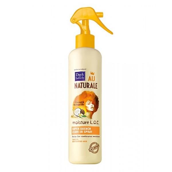 DARK & LOVELY AU NATURAL L.O.C Spray super hydratant sans rinçage 250ml (SUPER QUENCH MOISTURE L.O.C)