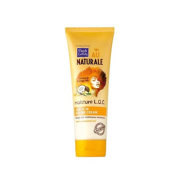 DARK AND LOVELY AU NATURAL Crème étanchéité COCO MORINGA 250ml (LOCK IT IN SEALING CREAM L.O.C)