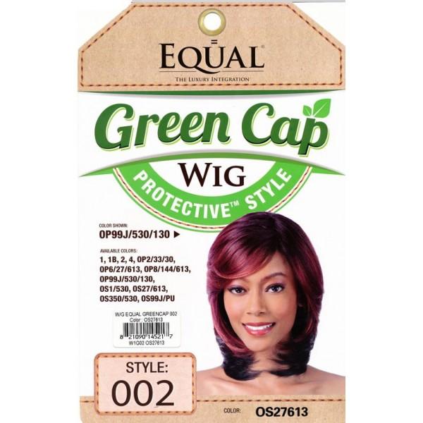 EQUAL perruque GREEN CAP 002