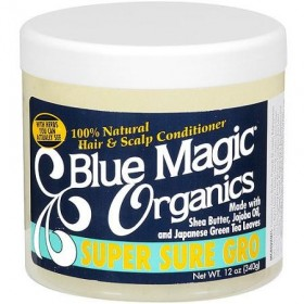 "BLUE MAGIC Masque après-shampooing naturel KARITE JOJOBA THE VERT 390g ""Organics"""