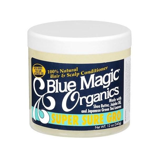 "BLUE MAGIC Masque après-shampooing naturel KARITE JOJOBA THE VERT 390g ""Organics"""