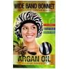 """DREAM Bonnet nuit satin à l'ARGAN """"Wide band"""" DRE 5073Z"""