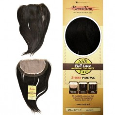 "SENSAS Closure Brésilien 3 WAY STRAIGHT 12"" Silk Full Lace 7x4 (B&N)"