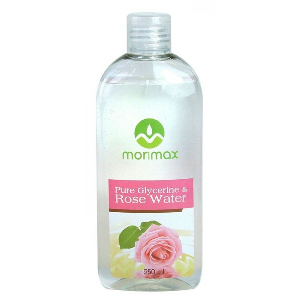 """MORIMAX HUILE DE GLYCERINE & EAU DE ROSE 100% PURES 250ml """"Glycerine & Rose Water"""""""